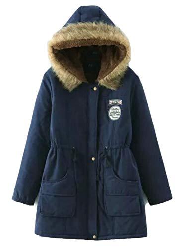 TTYLLMAO Parka Winter Long Women's Collar Warm Coat Hooded Coat Fur 9 Outwear BBxrfwqpU