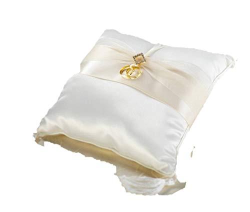 Ivory Diamonds Ring Bearer Pillow