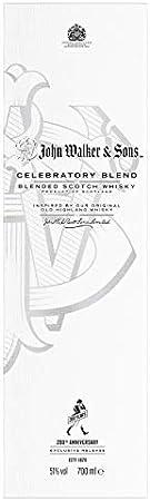 Johnnie Walker Edición Limitada de Aniversario Blended Scotch Whisky con Caja de Regalo, 700ml