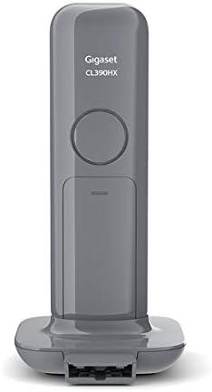 fonctions Mains Libres et Blocage Dappels Grand /écran R/étro-/Éclair/é T/él/éphone Fixe sans Fil au design Moderne avec R/épondeur Int/égr/é au Combin/é Gris Anthracite Gigaset CL390A