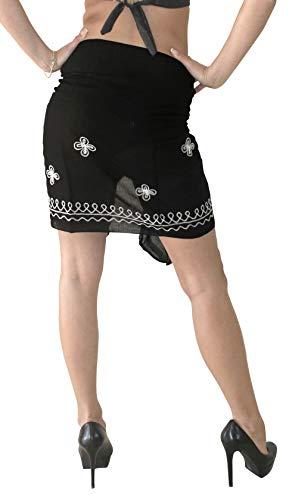 3e66941521 LA LEELA Women Beachwear Mini Sarong Bikini Cover up Wrap Dress Solid 7