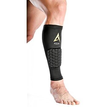 5da67f9729 Agon Calf Compression - SINGLE SLEEVE With Padding Brace Support Shin Guard  Leg Compression Socks for
