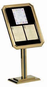 Aarco Products P31-B Single Pedestal Ornamental Sign and Poster Stand - Brass ()