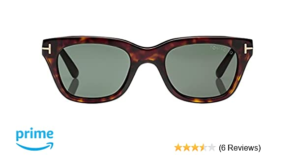 170e33a777 Tom Ford Snowdon FT0237 Sunglasses-52N Dark Havana (Green Lens)-52mm at  Amazon Men s Clothing store
