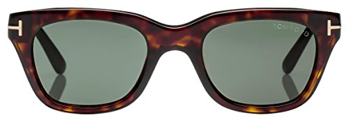 694c51bbd2 Tom Ford Snowdon FT0237 Sunglasses-52N Dark Havana (Green ...