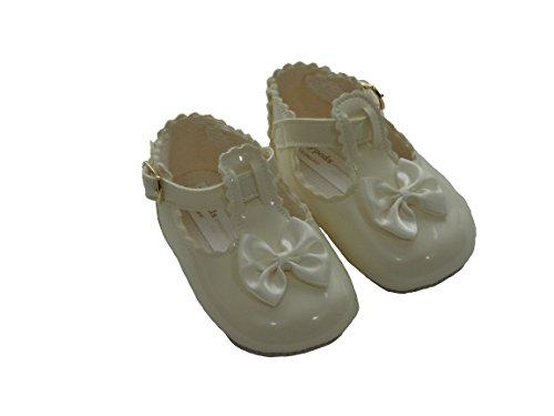 Zapatos para bautizo de niña Marfil
