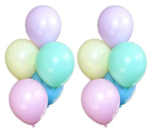 Unicorn Party Balloons - 10 Ct Latex Bundle Pastel Rainbow Birthday Decorations