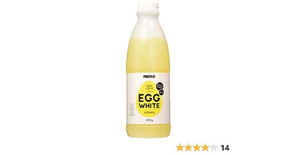 Prozis 100% Clara de huevo líquida: Albúmina 1000 g Natural