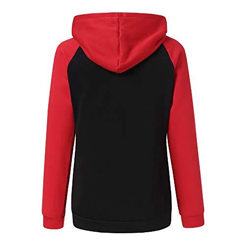 Longues Longues Tops Pull Sweat Shirt Longues Chemise Shirt Manches Sweat R Tops Femmes Chic Shirt Manches pour Sweat en Patchwork Femme Manches IgUFIq