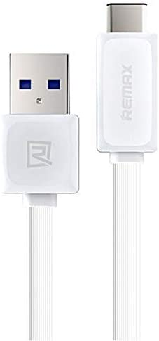 White 3.3ft1M Quick Power Flat USB-C Cable for Asus ROG Phone II Ultimate Edition with USB 3.0 Gigabyte Speeds and Quick Charge Compatible!