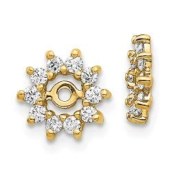 Q Gold 14k Fancy Diamond Earring Jacket Mountings by Q Gold (Image #1)