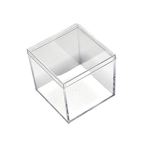 48 Pack Small Clear Acrylic Candy Boxes High Quality Cube Case 2x2x2 inches by Fulemay.