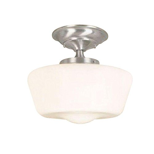 World Imports Lighting 9007-08 Schoolhouse 1-Light Semi Flush Mount Fixture, ()