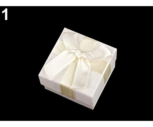 - 1pc 1 Ecru Light Paper Gift Box 5x5 cm for Jewellery, Boxes, Bags, Decorations