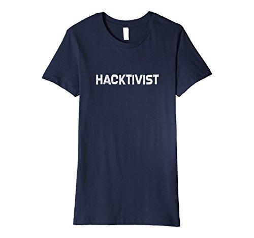 Womens Hacktivist Shirt, Gift For Hackers, Funny Hacker T Shirt Medium Navy (Gear Hacker)