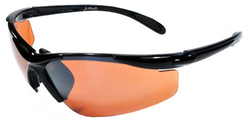 JiMarti JMP01 POLARIZED Sunglasses for Golf, Fishing, Cycling-Unbreakable-TR90 Frame (Black & Bronze)