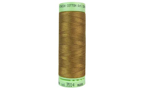 - Mettler Silk-Finish Solid Cotton Thread, 220 yd/200m, Bronze Brown
