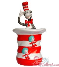 Cat in the Hat Ceramic Cookie Jar Dr. Seuss by Dr. Seuss