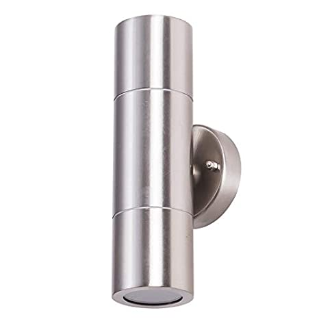 2x Stainless Steel Wall Light Up Outdoor Wall Light Outdoor Brand New