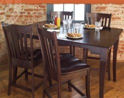 Conrad Grebel Newport 5 Piece Amish Wood Pub Set Kitchen D