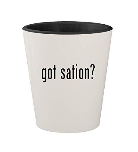 got sation? - Ceramic White Outer & Black Inner 1.5oz Shot Glass (Gta V Play Sation 4)