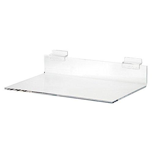- KC Store Fixtures 01617 Acrylic Slatwall Shelf, 8
