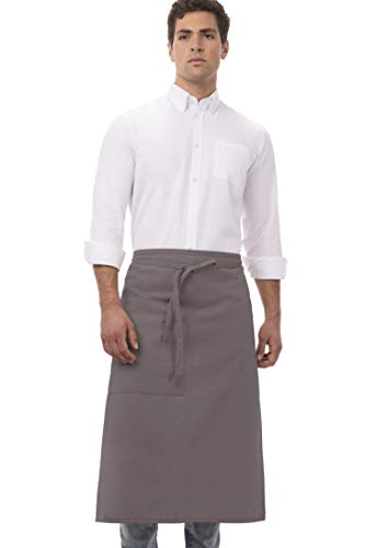 Chef Works Unisex Mens Bistro Apron, Slate Grey, 32-Inch Length by 27.5-Inch Width