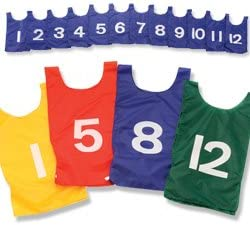 B0000APBWL US Games Numbered Nylon Pinnies, Youth Sizes, One Dozen 31cDfzD3BrL