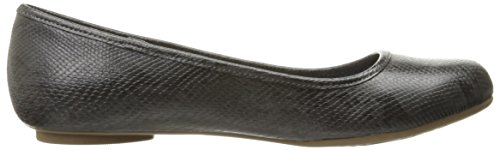 Dr. Scholls Womens Friendly Ballet Flat Dark Grey Opel Snake Swn3O50