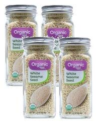 Great Value Organic White Sesame Seeds, 2.2 oz, 2 Count (Pack of 2) by Great Value