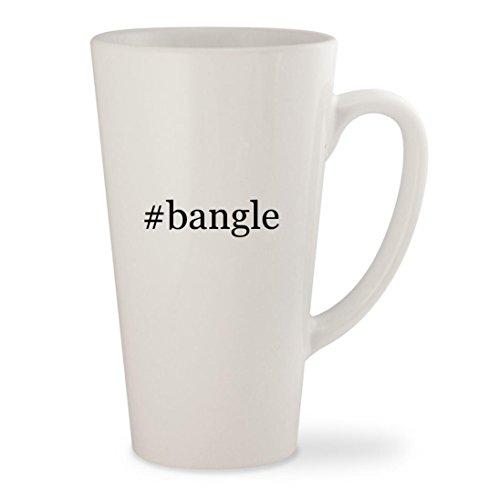 #bangle - White Hashtag 17oz Ceramic Latte Mug Cup