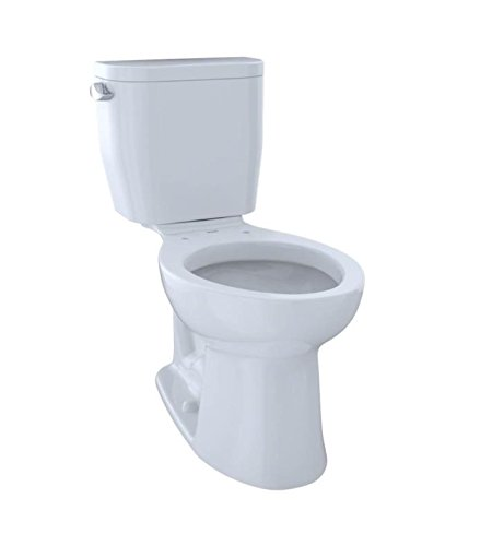 5. TOTO Entrada Two-Piece Elongated Universal Height Toilet