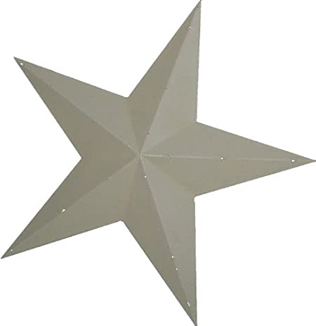 Amazon.com: Craft Outlet Tin Star Wall Decor, 24-Inch, Off-White ...