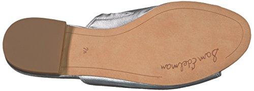 Sam Leather Sandal Metallic Silver Women's Edelman Tai Soft rn0vHqrgw