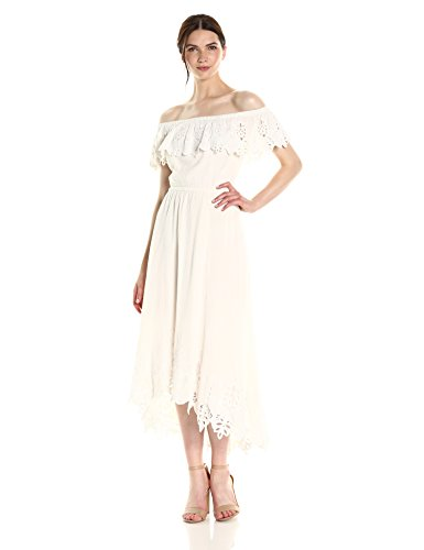 Boho-Chic Vacation & Fall Looks - Standard & Plus Size Styless - Rachel Zoe Women's Halsey Gown, Ecru