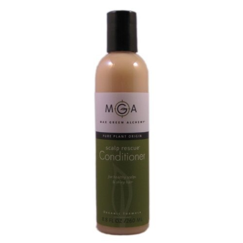Max Green Alchemy Organic Formula Scalp Rescue Conditioner Regular Size Bottle (8.8 Fluid Ounces)