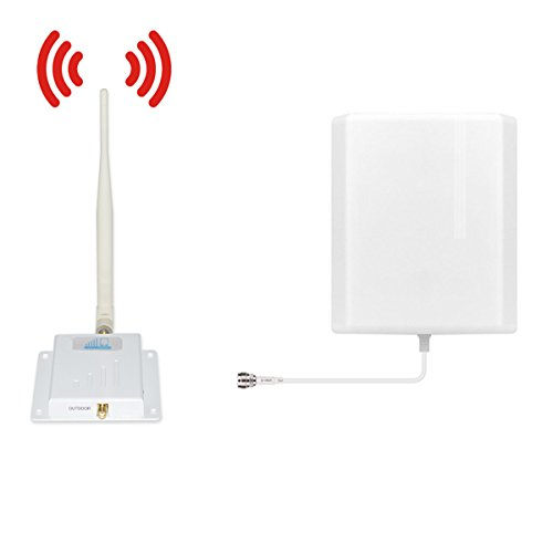 ATT T-Mobile Cell Phone Signal Booster 4G Lte Cell Signal Booster HJCINTL Band12/17 700MHz Home Mobile Phone Signal Booster Amplifier Kit Cover-1500sqft by HJCINTL