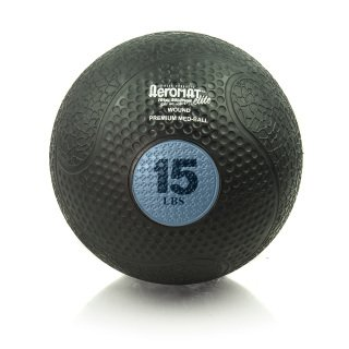 Aeromat Extreme Elite Medicine Ball 15LB, Sky by ECO-WISE