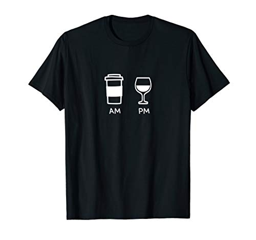 - Big and Tall Am To Pm Coffee Wine Cocktail Mojito Rum Coke T-Shirt