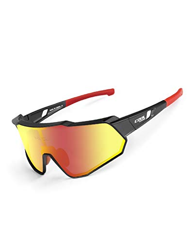 Cool Change Polarized Cycling Sunglasses Full Screen|TR90 Frame|UV400 Protection Sports Glasses for Men Women - ()