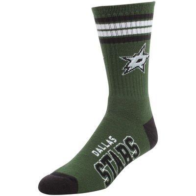 For Bare Feet NHL 4 Stripe Deuce Crew Men Socks-Dallas Stars-Large (10-13)