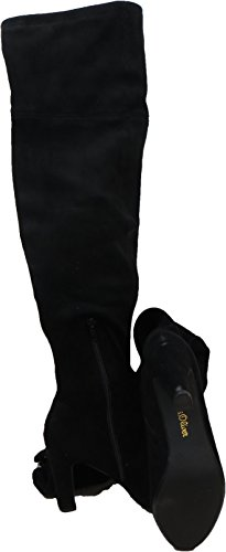 7420 s.Oliver stretch Overknee Stiefel schwarz Schwarz