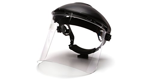 Pyramex S1210 Polycarbonate Cylinder Clear Faceshield Visor -