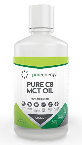 100% Aceite de coco C8 TCM   Pureza de 99%   Ácido Caprílico Puro