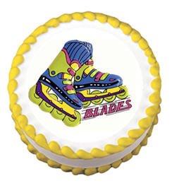 Cakesupplyshop Item#r61t - Roller Skate Roller Blades Birthday Party Lay-on Cake Decoration Topper
