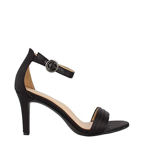 Naturalizer Women's, Kinsley 2 Sandals Black Satin 6.5 W