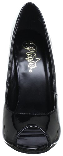 Toe Black Women's Pump 212 Patent Pleaser Peep Domina Yg4qIxWwn7