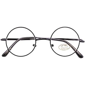 Amazon.com: Black Round Circle Clear Lens Eyeglasses Small