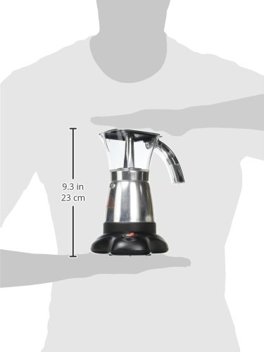 Brentwood TS-118BK Electric Moka Pot Espresso Machine, 6-Cups by Brentwood (Image #6)