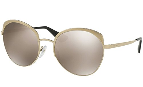 - Prada Women's 0PR 54SS Metallized Pale Gold/Light Brown Gold Mirror One Size